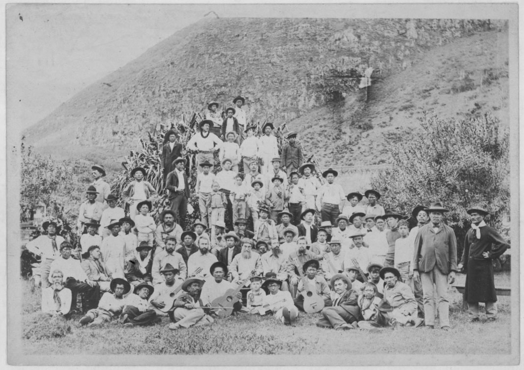 English: The Kalaupapa leper colony in 1905. T...