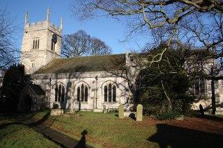 Photo of All Saints' church Bolton Percy.