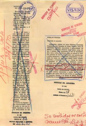 Censored Spanish newspaper