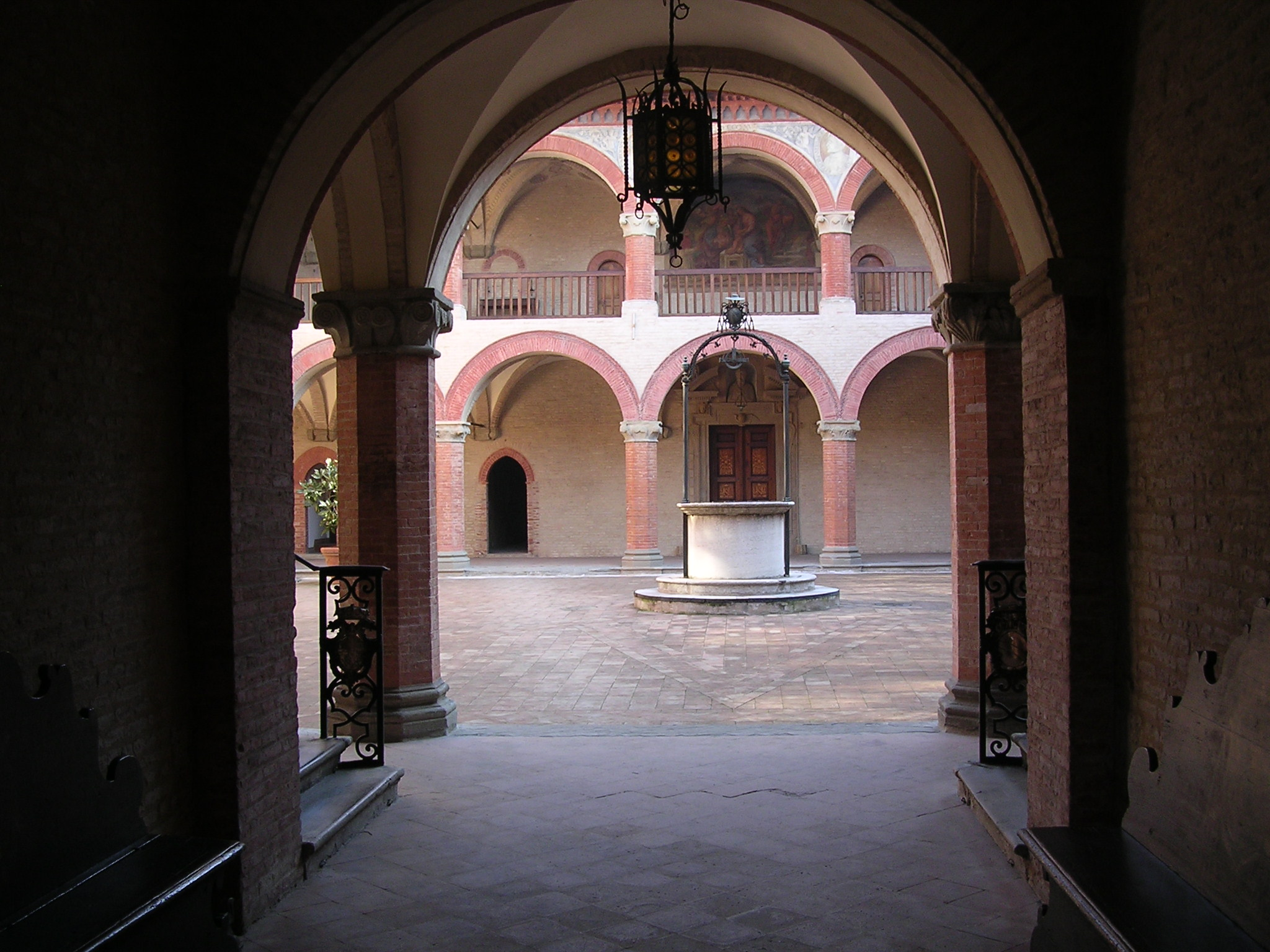 The Collegio di Spagna, a historic university college, originally founded to support Spanish students in Bologna, Italy.
