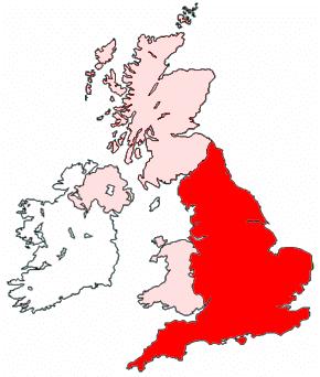 wilayah negara Inggris