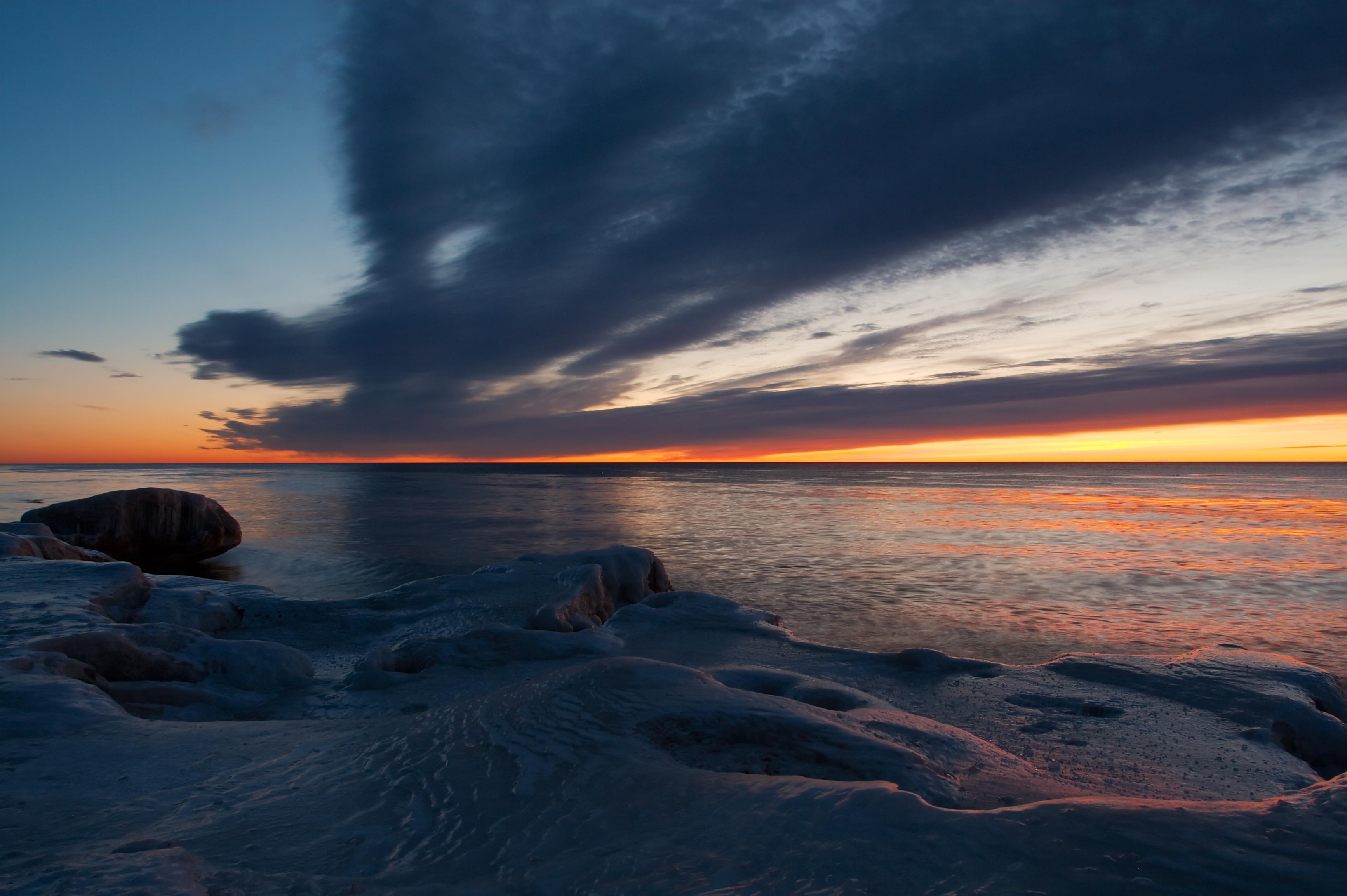English: Sunrise at North Point Park, Milwauke...