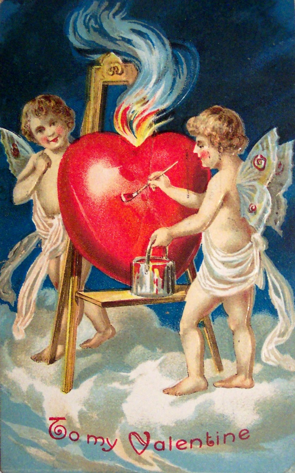 Scan of a Valentine greeting card dated 1909.