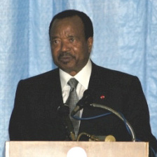 President Paul Biya of Cameroon at the inaugur...