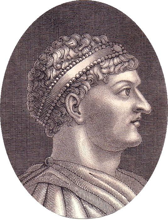 Portrait of Honorius, son of Theodosius I.