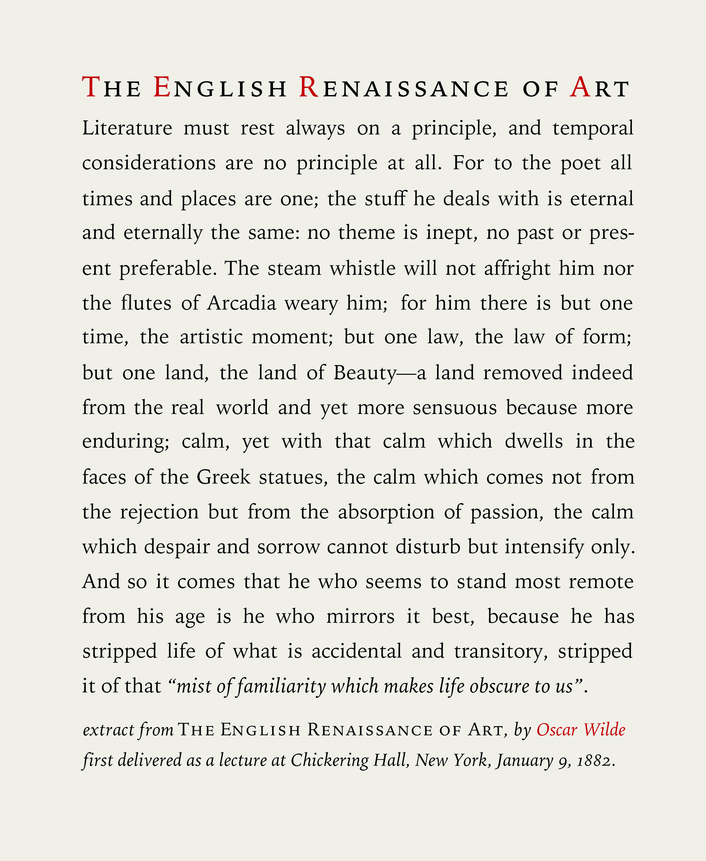 Oscar Wilde English Renaissance Of Art 2
