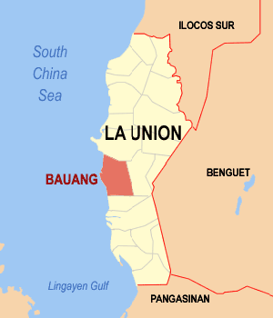 English: Map of La Union showing the location ...