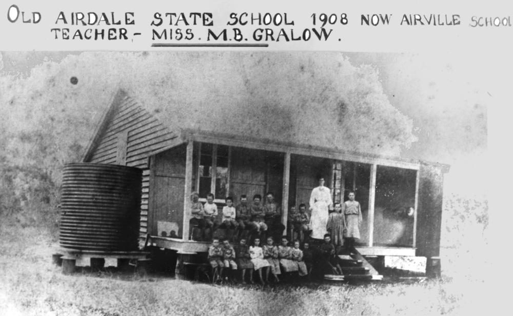Teacher and students at Airville, 1908. Group ...
