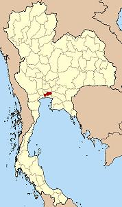 Bản đồ Thái Lan chỉ vị trí tỉnh Bangkok}