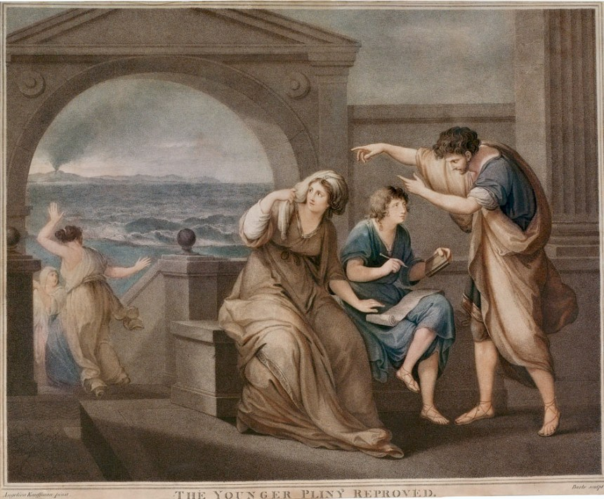 Lesson in Church History: The Younger Pliny Reproved, colorized copperplate print by Thomas Burke (1749–1815)