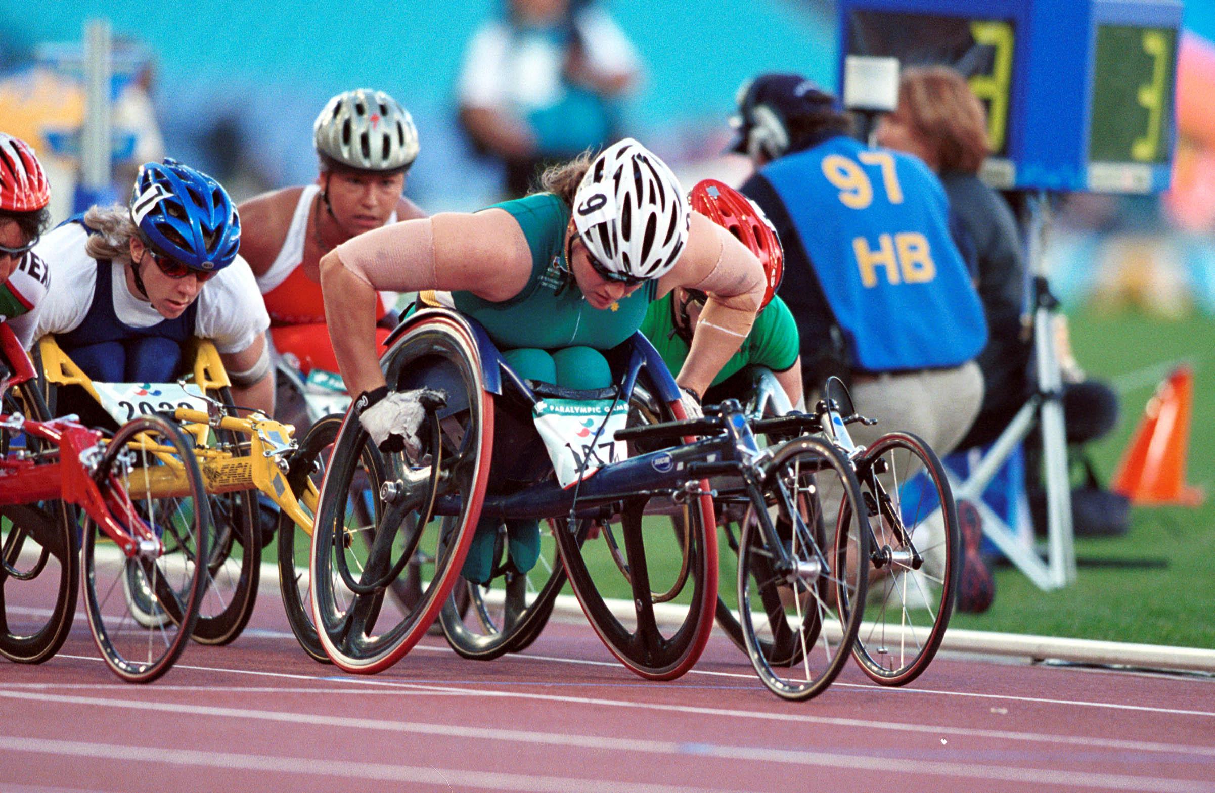 File281000 Athletics Wheelchair Racing Louise Sauvage