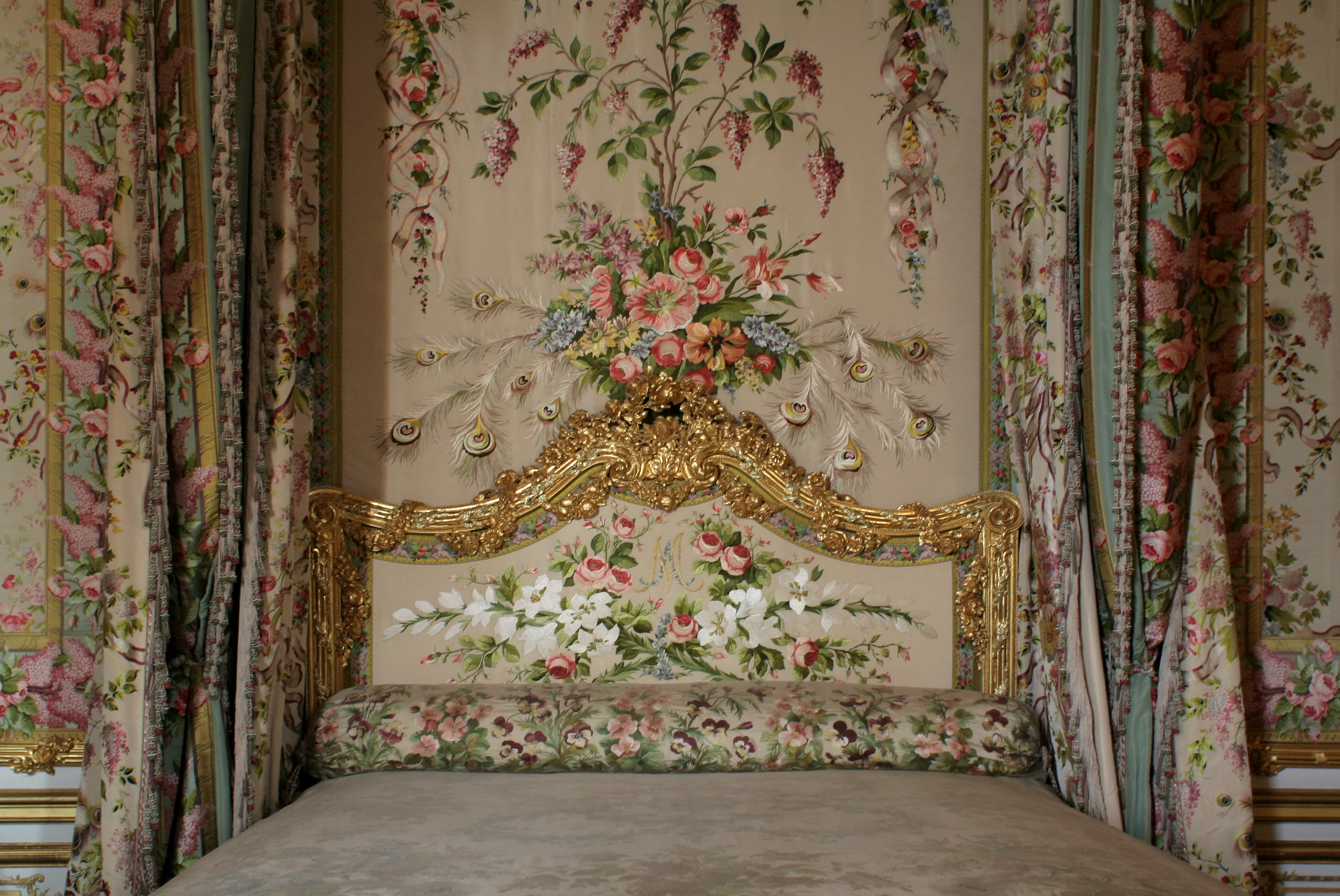 FileChteau De Versailles Chambre De La Reine Lit 02