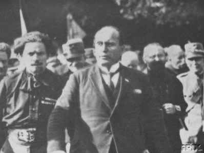 Mussolini and other fascist leaders in 1923.