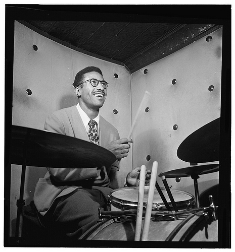 Max Roach playing drums