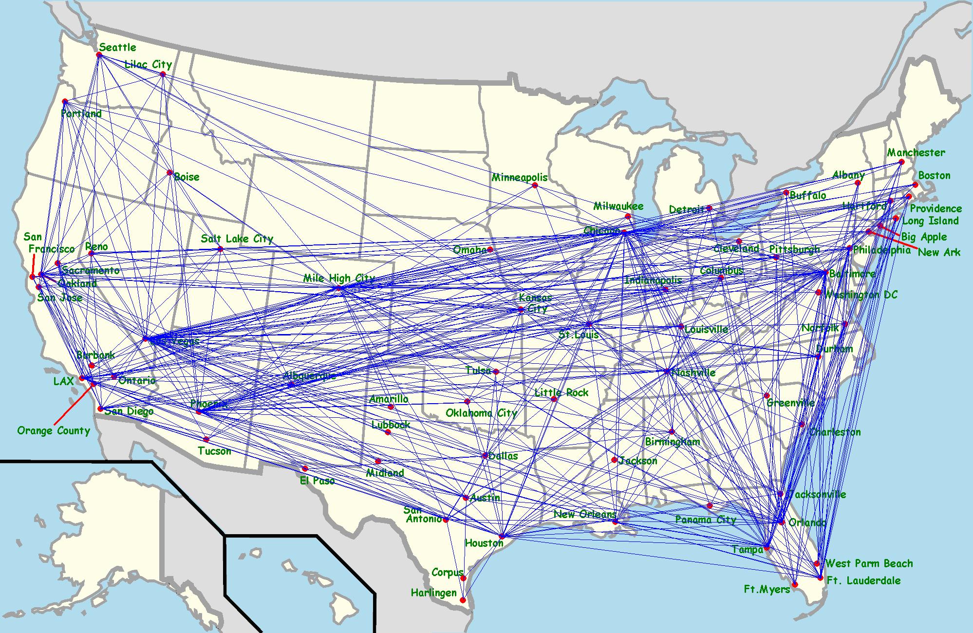 Southwest Airlines Flight Map Afp Cv