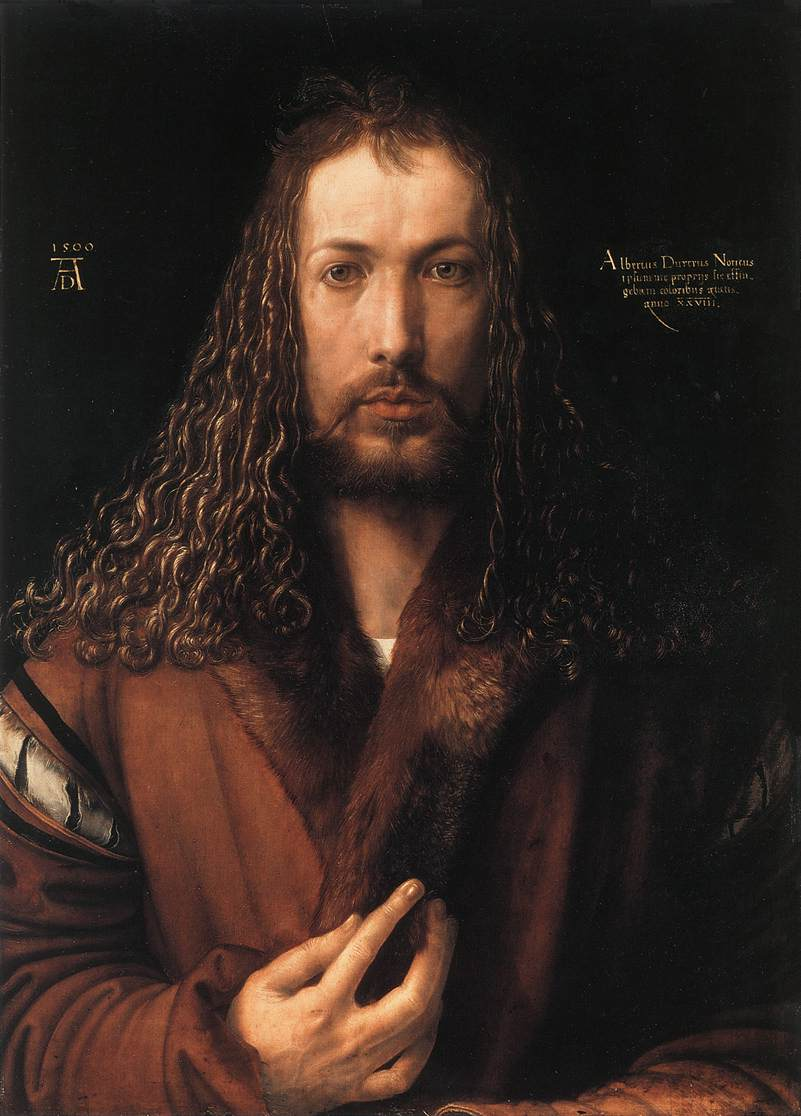 Albrecht Dürer (1471-1528). Self-portrait in a Fur-Collared Robe.
