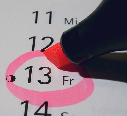 Freitag der 13. im Kalender