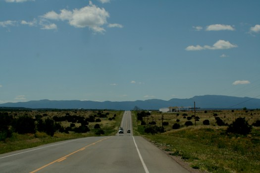 Sandia Mountains from Route 66 east of Albuquerque