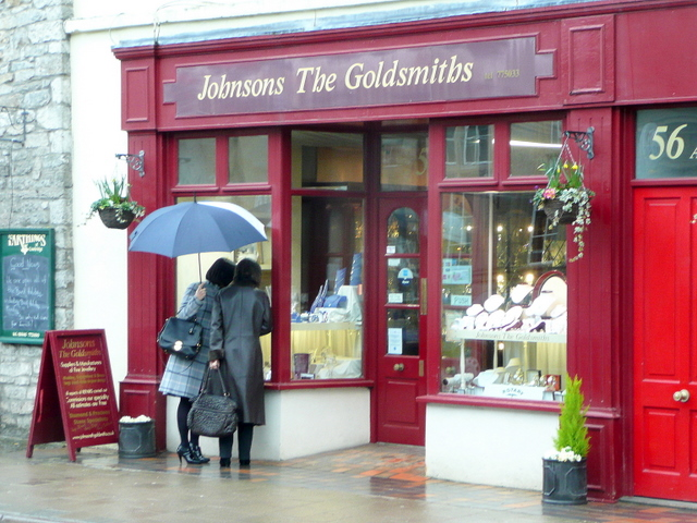 English: Window shopping in Cowbridge These la...