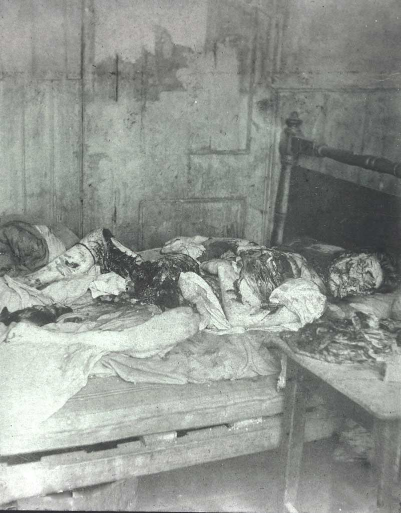 Police photograph of the murder scene of Mary ...