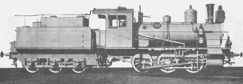 Russische Dampflokomotive der Baureihe T (Typ 132), hergestellt bis 1915 von den Kolomna-Werken