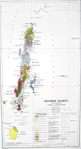 Carte ethnolinguistique des îles Andaman en 1902