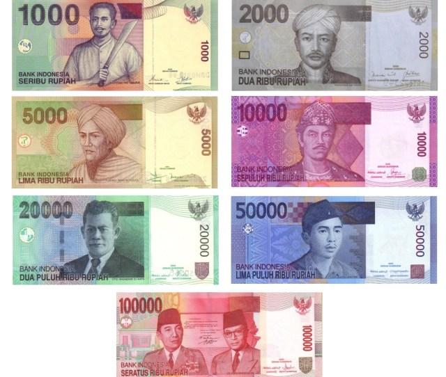 Fileindonesian Rupiah Idr Banknotes Jpg
