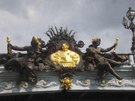 Ponte Alexandre III em Paris - Detalhe Ninfas
