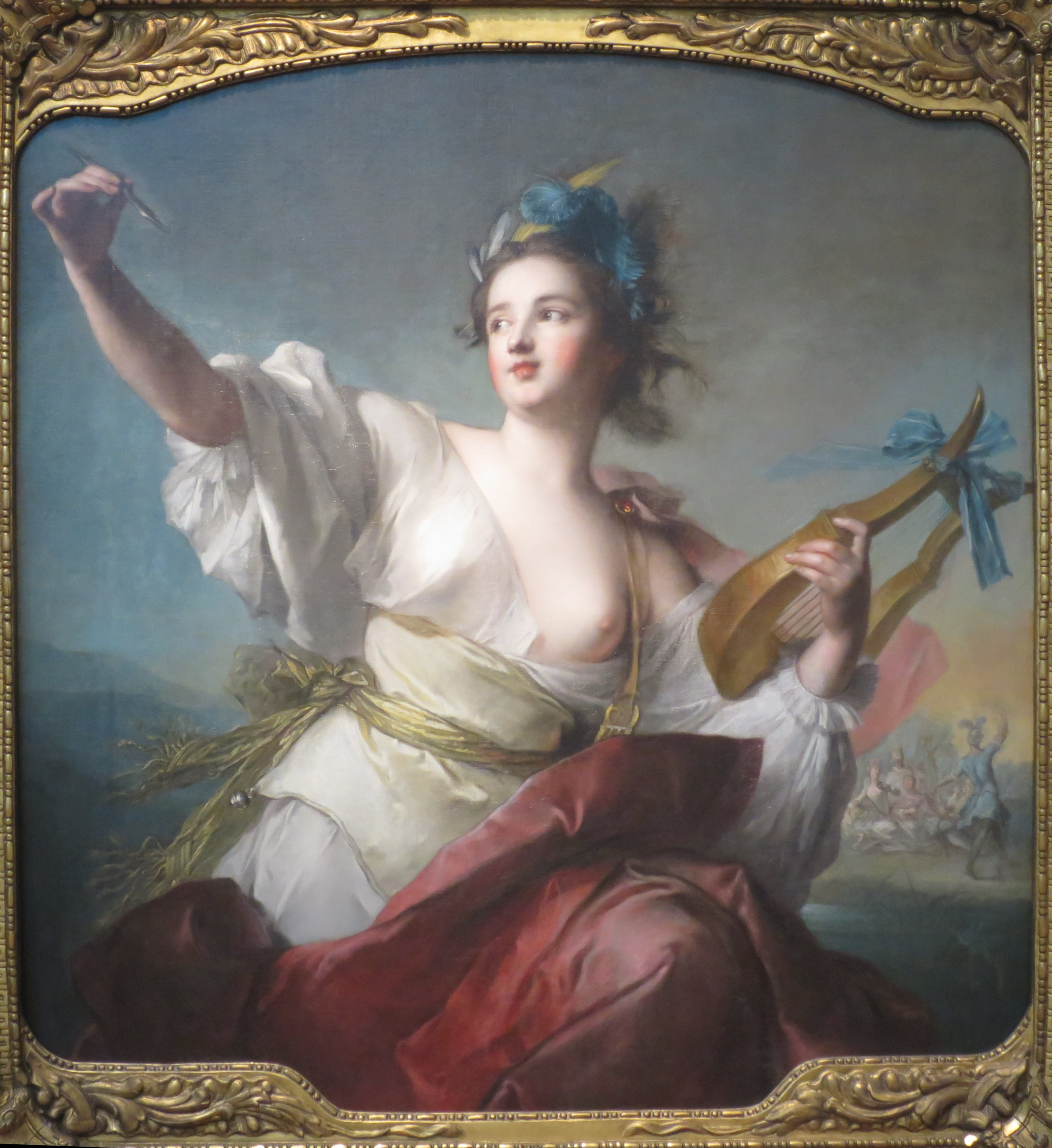 Terpsichore, Muse of Music and Dance, an oil o...