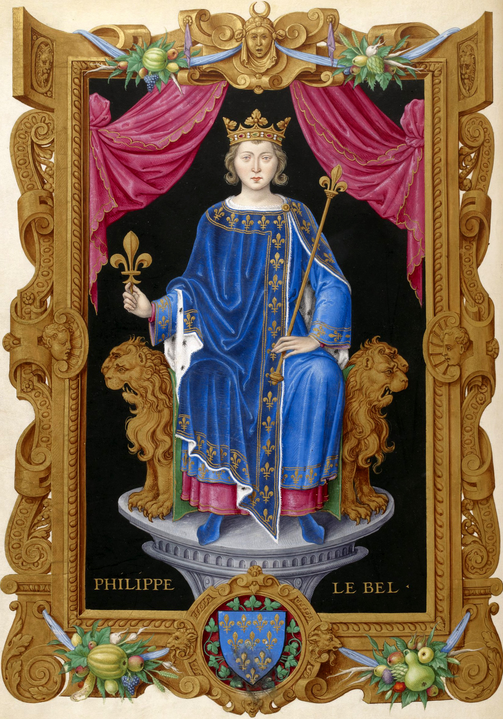Philippe IV le Bel From Recueil des rois de France, by Jean Du Tillet (16th century).