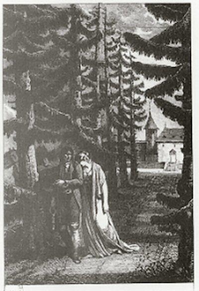 René marchant avec Amélie