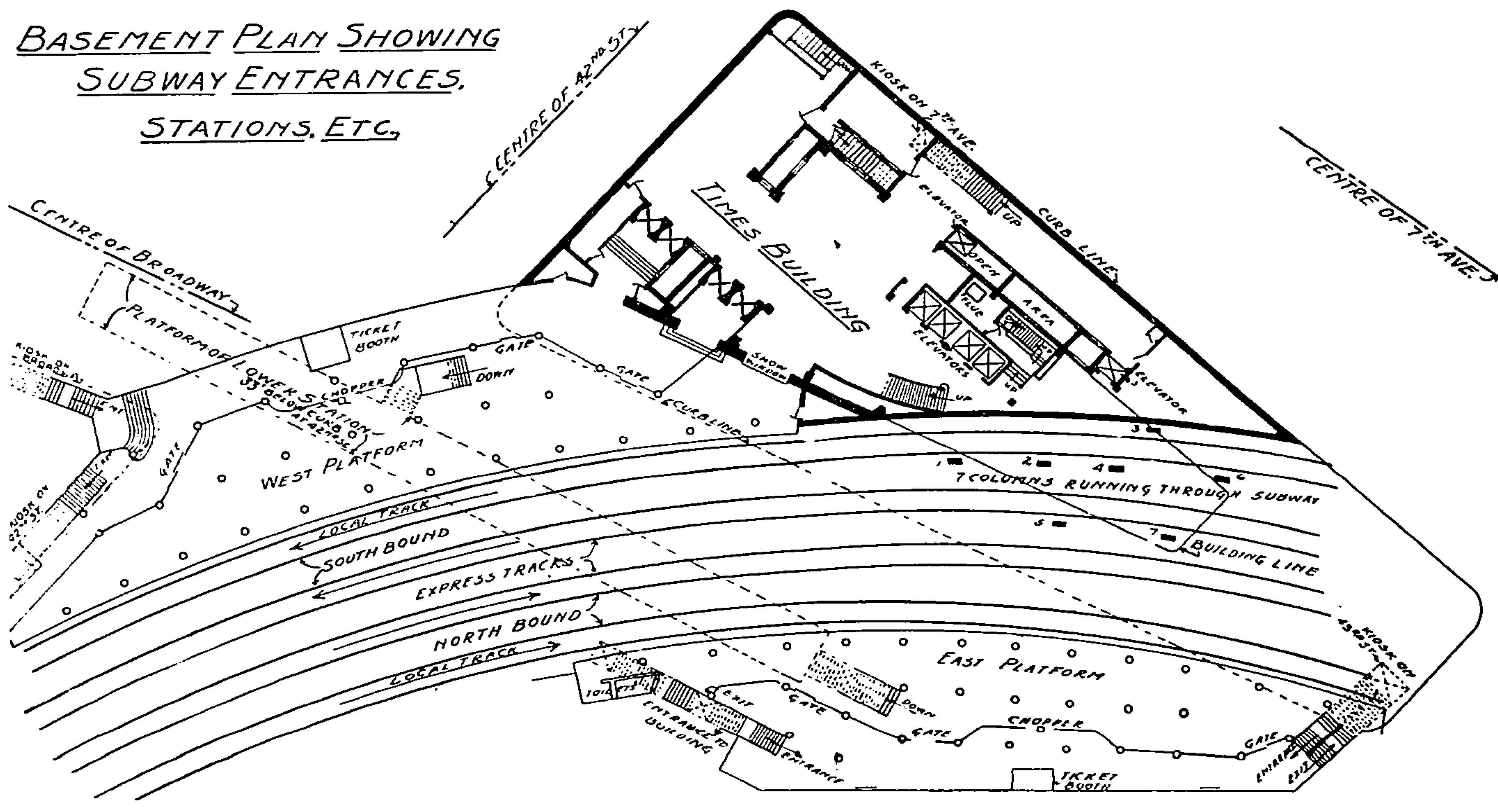 File Times Square Subway Station Original Plan
