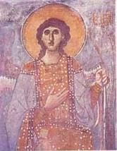 Icon of Angel in Veljusa Monastery, Macedonia