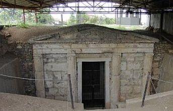 Αρχαιολογικό μνημείο στη Βεργίνα.