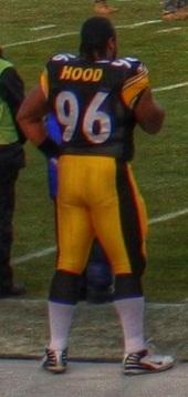 English: Ziggy Hood of the Pittsburgh Steelers...