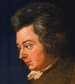 Detail of the unfinished portrait of Mozart by...