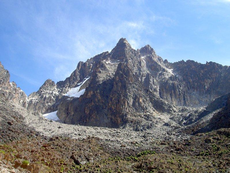 Mount Kenya with snow
