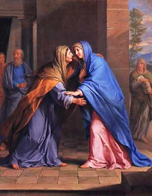 Mary and Elizabeth meeting; the Magnificat