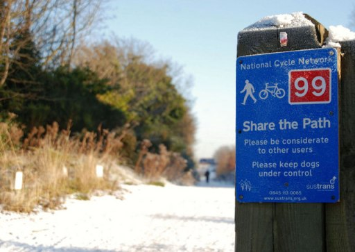 National cycle network sign, Belfast (2) - geograph.org.uk - 1653561