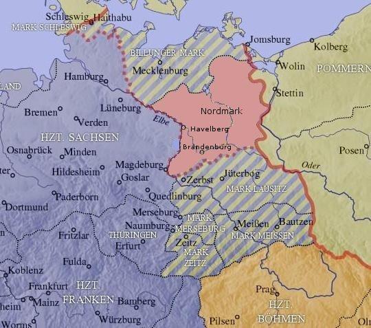 Die Nordmark zur Zeit der Ottonen (965-983)