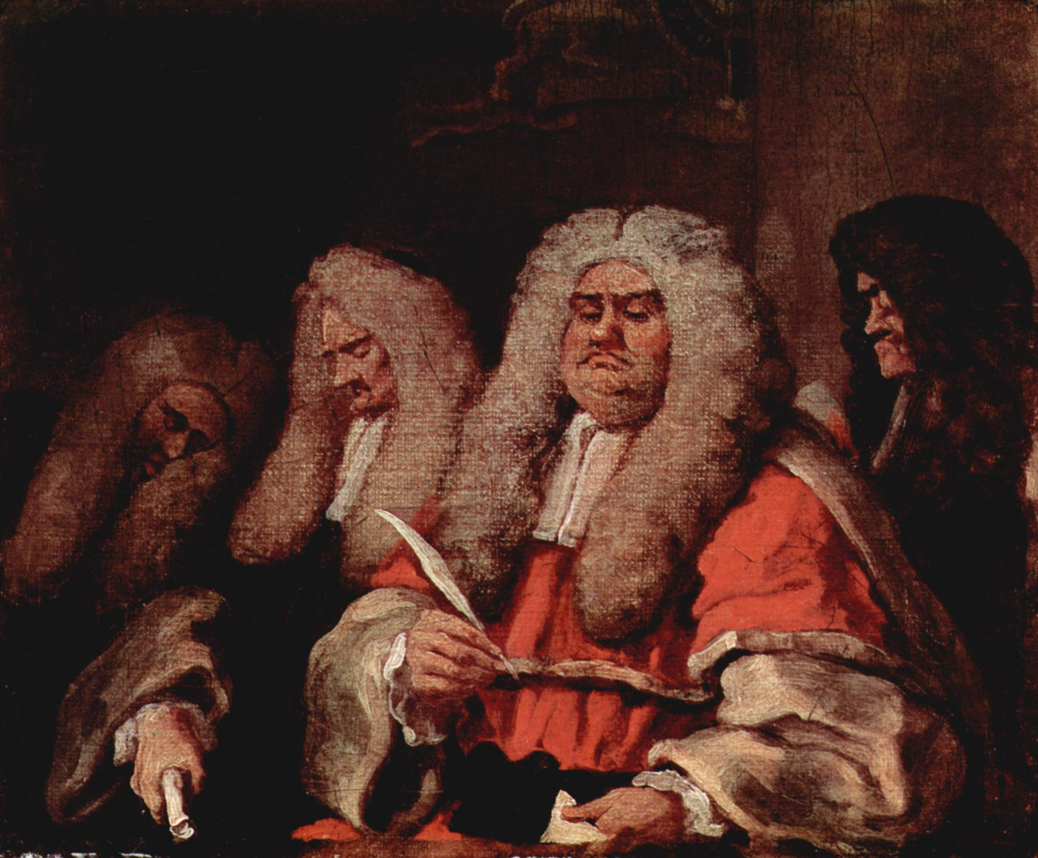 Jurists by William Hogarth. (Courtesy of The Yorck Project, Wikimedia Commons)