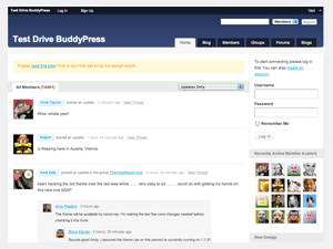 BuddyPress default theme