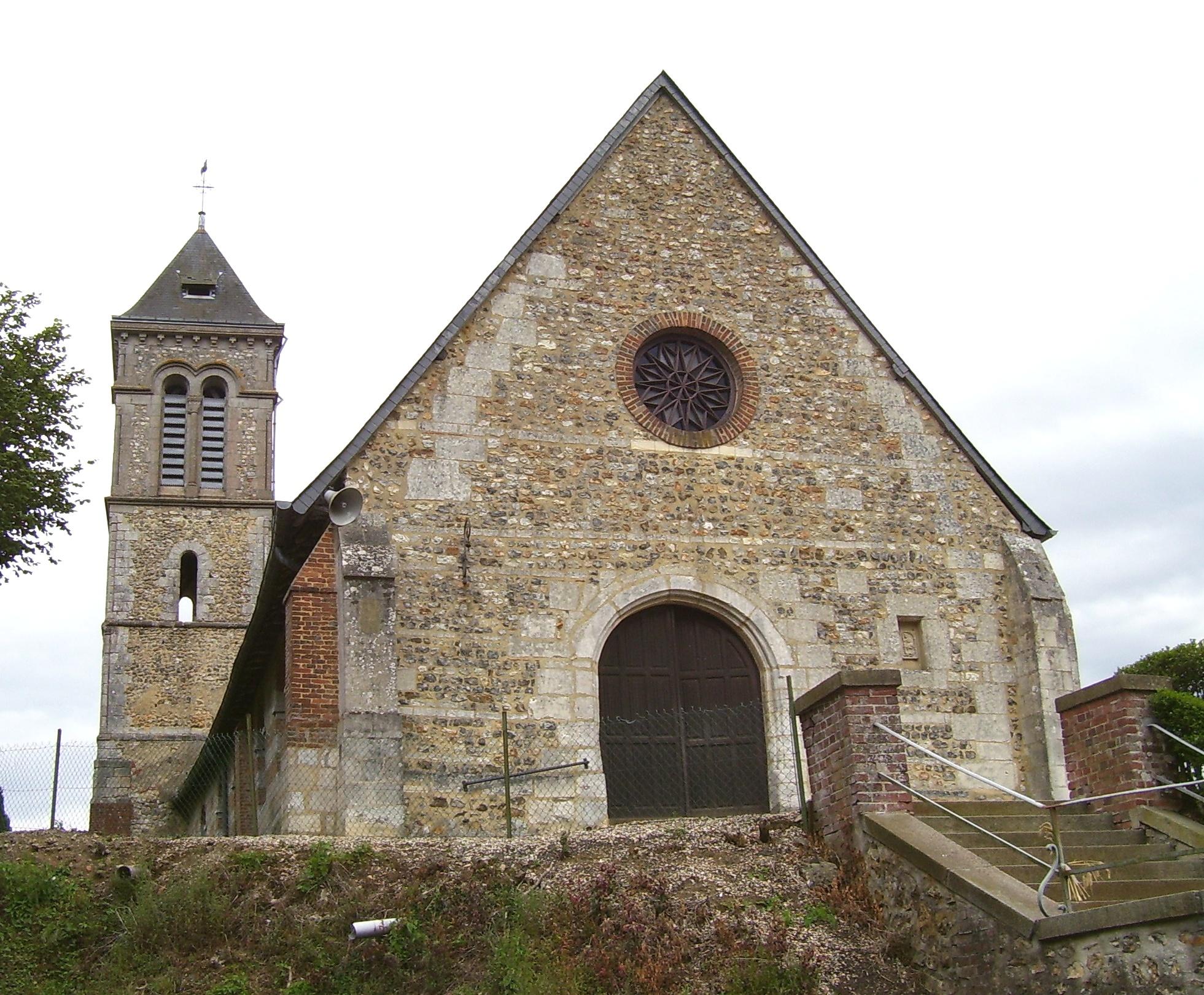 Church of Saint-Georges-du-Vièvre, own photo (on commons), public domain