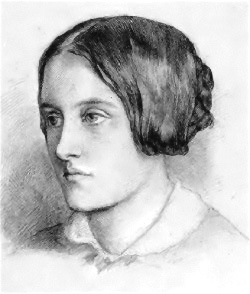 English: Christina Rossetti, portrait by her b...