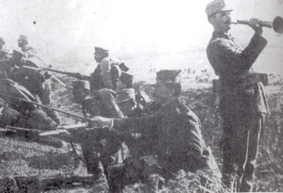 Greek infantry Giannitsa 1912