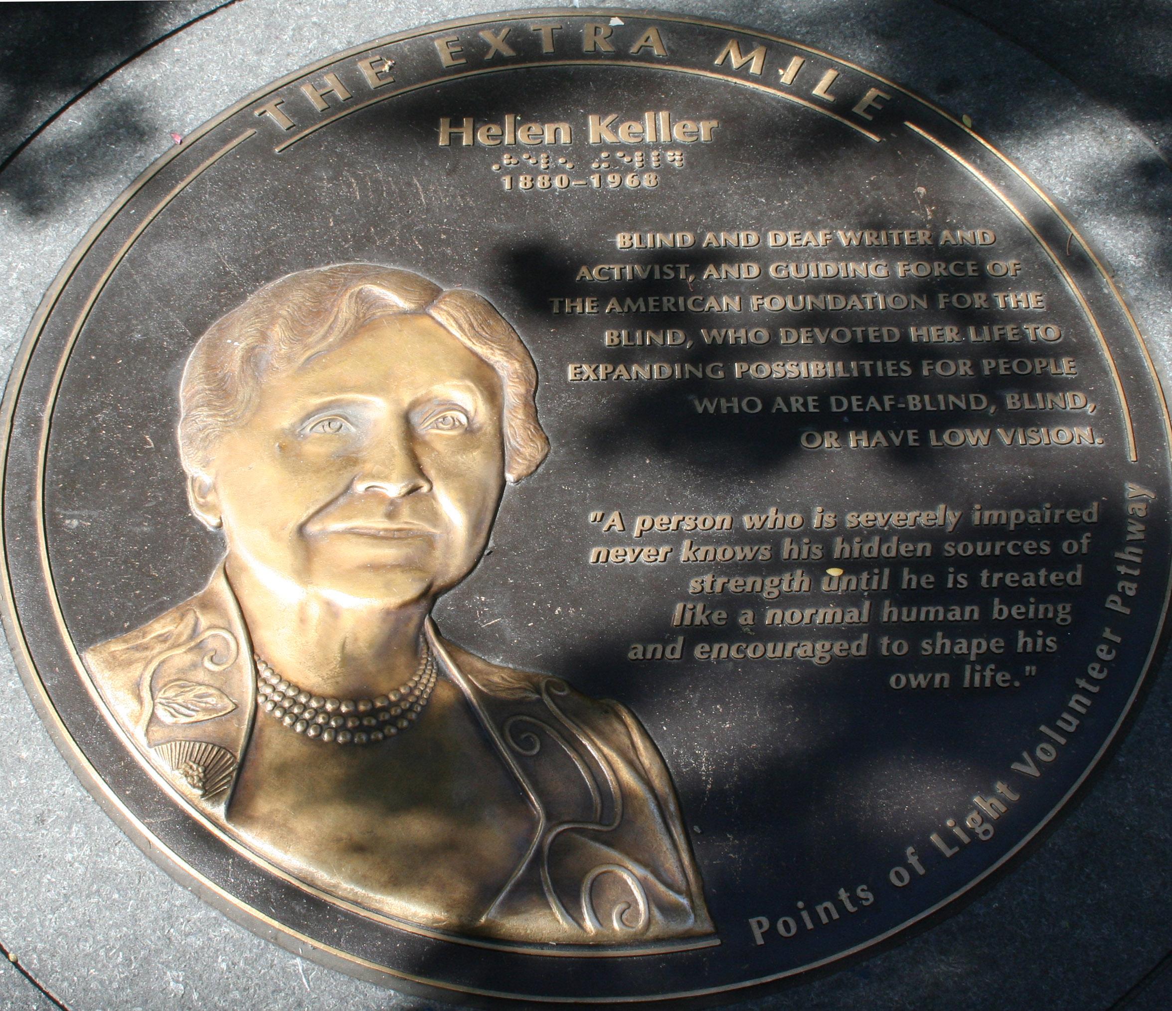File Helen Keller Plaque