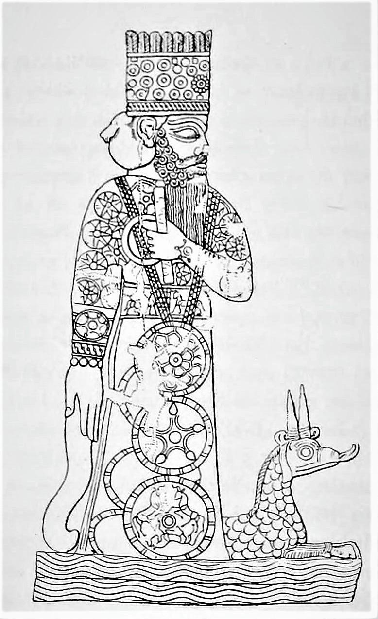 El rey del panteón babilónico: Marduk.
