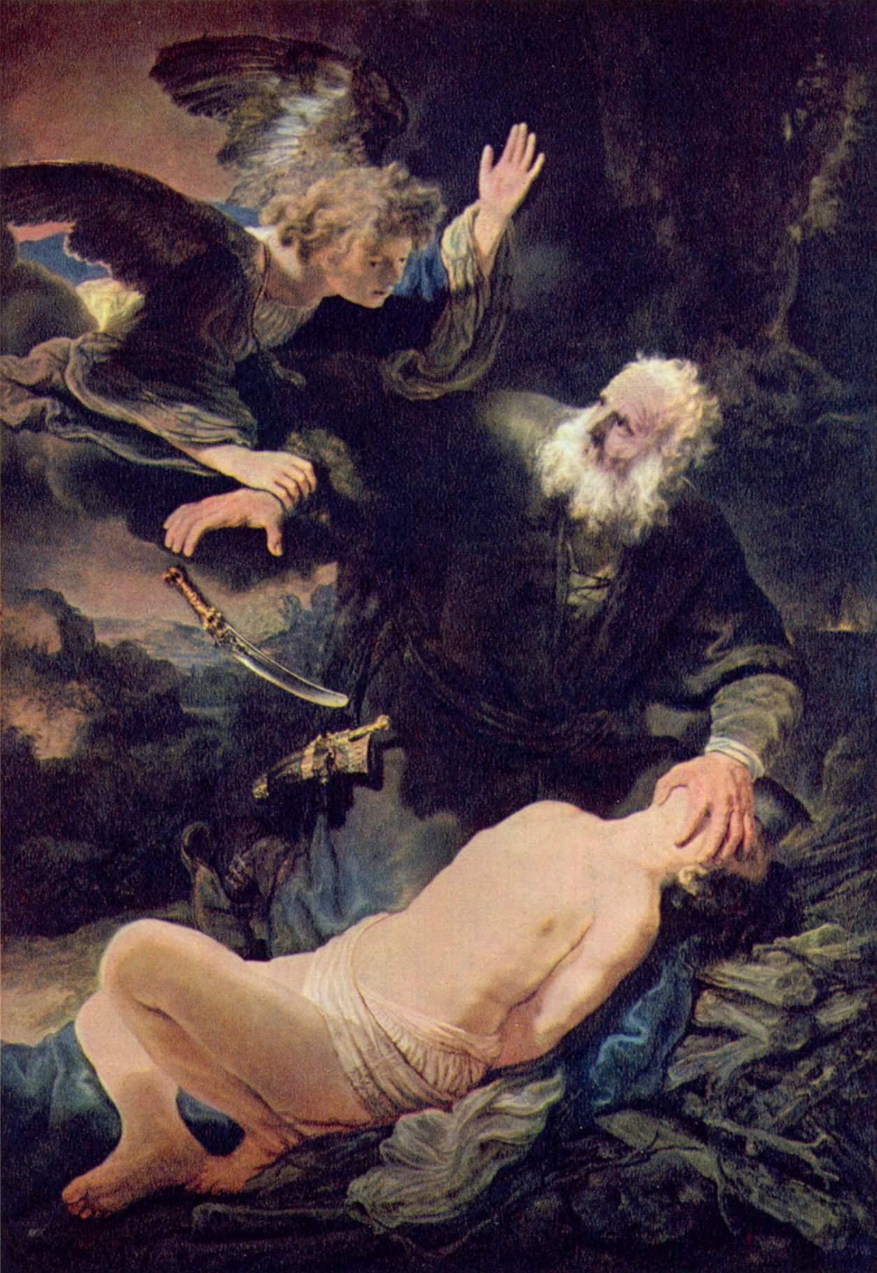 Isaac sacrifice Rembrandt Painting.jpg