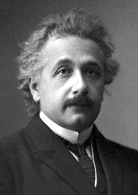 Albert Einstein, official 1921 Nobel Prize in ...