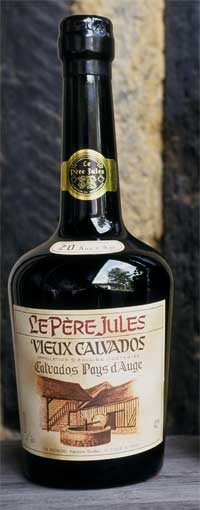 A bottle of Calvados, a French fruit brandy ma...
